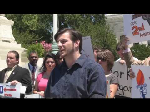"""Christopher Kuper Gun Owners of America At YAF's """"Constitution not Kagan"""" Rally"""