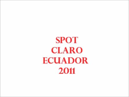 spot Claro 2011 Lorena Vargas