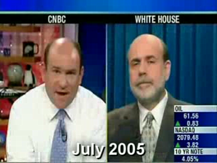 "Bernanke 2005-2007 a video compilation - ""I Have Confidence in Bank Regulators and There's No Bubble in Housing"""