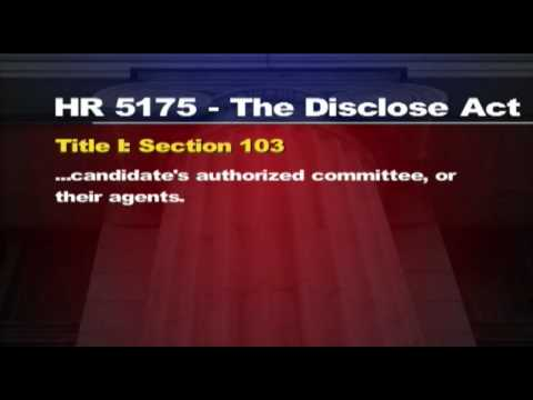 ACTION ALERT - STOP HR 5175 - The DISCLOSE Act