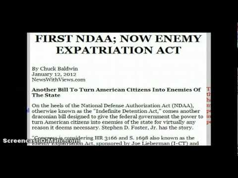ENEMY EXPATRIATION ACT ANOTHER LAW TO TURN U.S. CITIZENS INTO ENEMIES OF THE STATE
