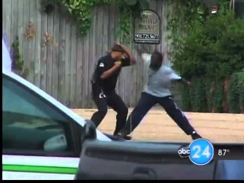 Rent-a-cop attacking black dude