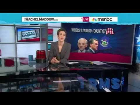 Rachel Maddow - Maine Caucus Rigged for Romney - Voter Fraud Evidence