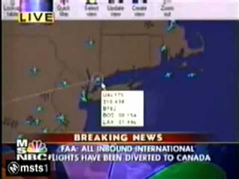 MUST SEE - 9/11 Aircraft (UAL 175) is still flying AFTER it has 'crashed' into the WTC