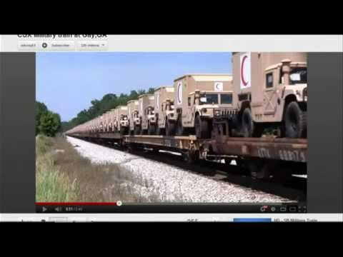 Many Military Convoys Now Moving Through the United States