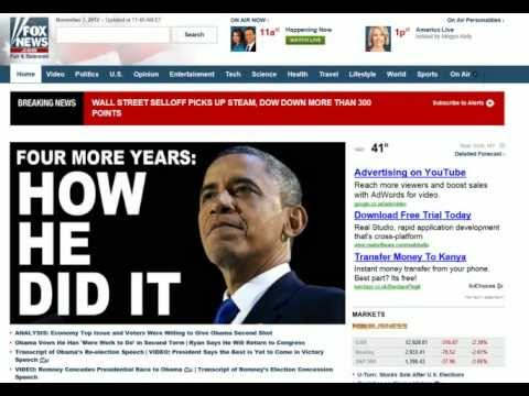 BREAKING NEWS - U.S. Markets Down 300pts Day After Obumbles Re-Selection