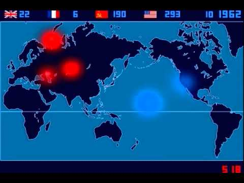 A Time-Lapse Map of Every Nuclear Explosion In The World Since 1945