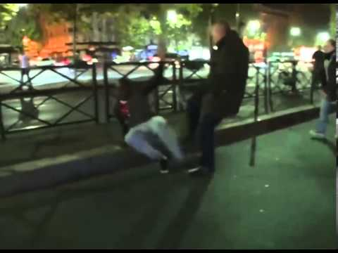 Football Riots Paris 13/05/2013  (Plain Cloths Police Blend in and Use Thug Tactics)
