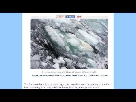 Twice as much Methane escaping Arctic seafloor