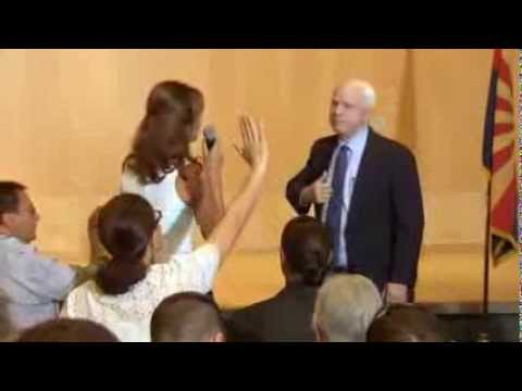 John McCain Owned By Syrian Woman At Town Hall Meeting