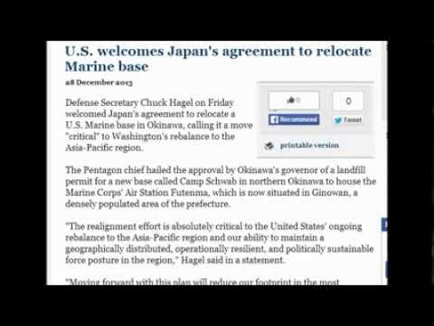 U.S. welcomes Japan's agreement to relocate Marine base. 12/29/2013