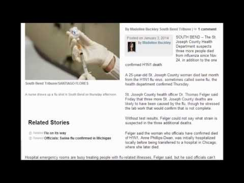 South Bend Indiana 5 deaths. New Strain of H1N1 incubation Of 1 to 7 Days Information Needed