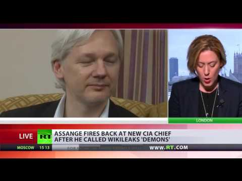 Wikileaks Julian Assange SLAMS The New CIA chief over His Smearing Comments