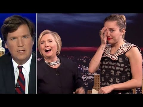 Miley Cyrus Breaks Down Crying in Hillary's Arms, Tucker Reacts