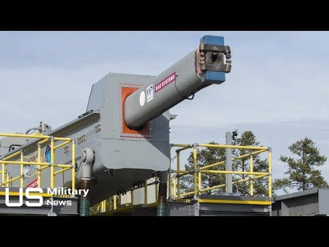 US NAVY 5600 mph RAILGUN - Navy's Gigantic Electromagnetic Railgun Is Ready for Deployment