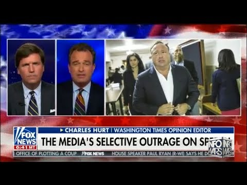 Video: Tucker Carlson Defends Alex Jones Against CNN Anti-Free Speech Crusade