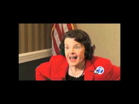 """Feinstein Walks Out On Reporter"",California US Senate debate"