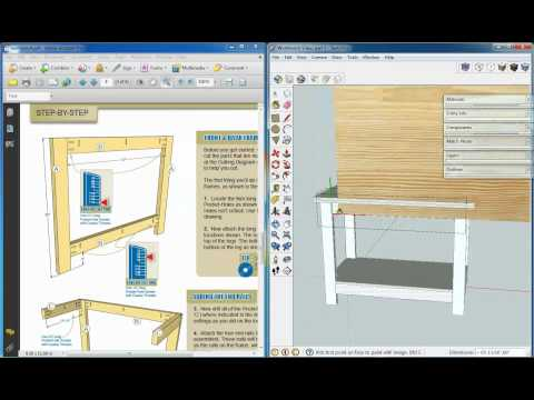 Kreg Workbench, Sketchup Video 3, Adding Textures