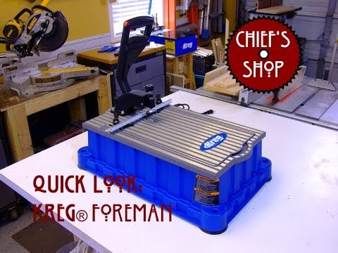 Chief's Shop Quick Look: Foreman Pocket-Hole Machine