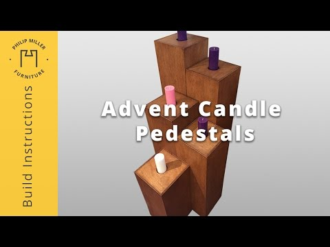 How To Build an Advent Candle Pedestal Display