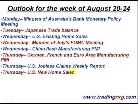 Gold & Silver Outlook for August 20-24 by Trading NRG