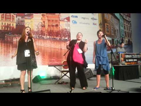Janice, Jeannie and Wendy at ICANN 44, Prague Music Night
