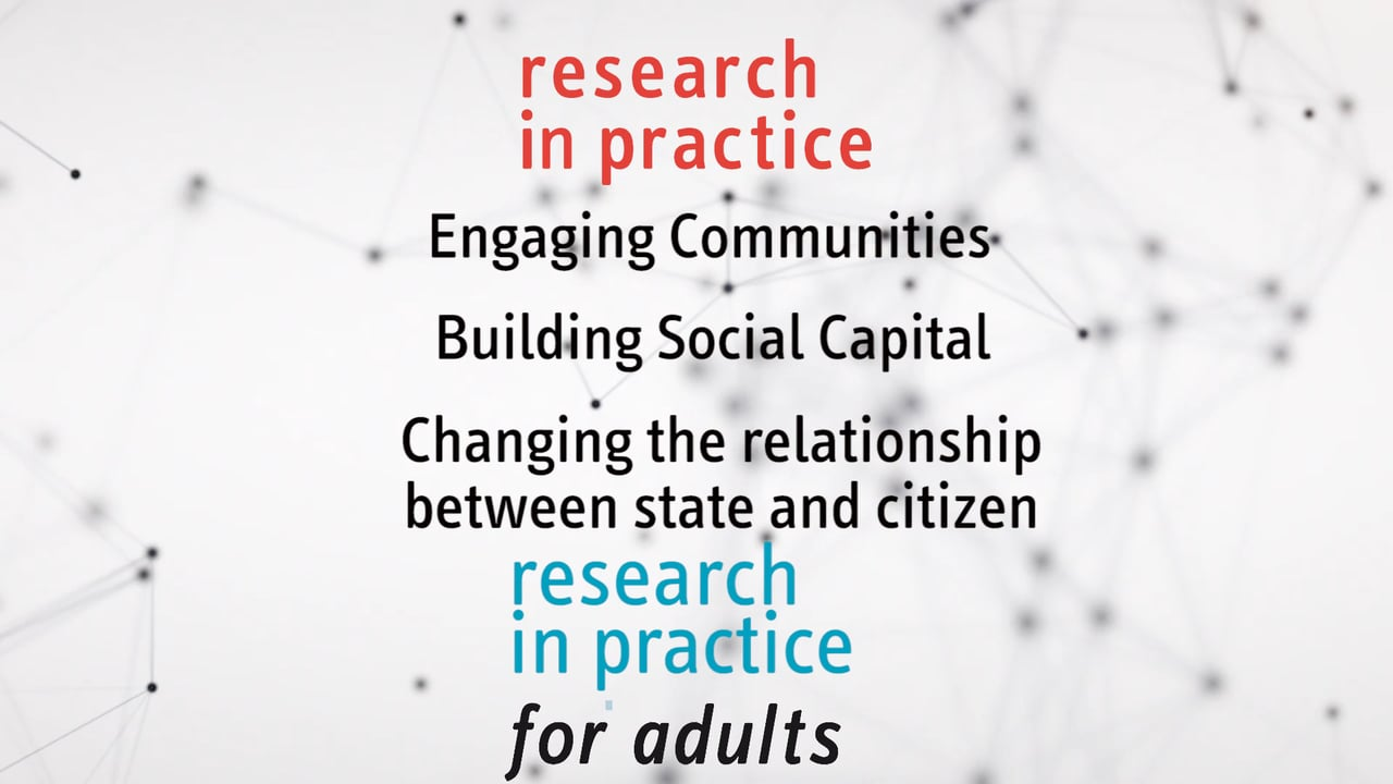 Research in Practice Engaging Communities