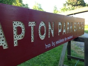 New sign for Clapton park Estate