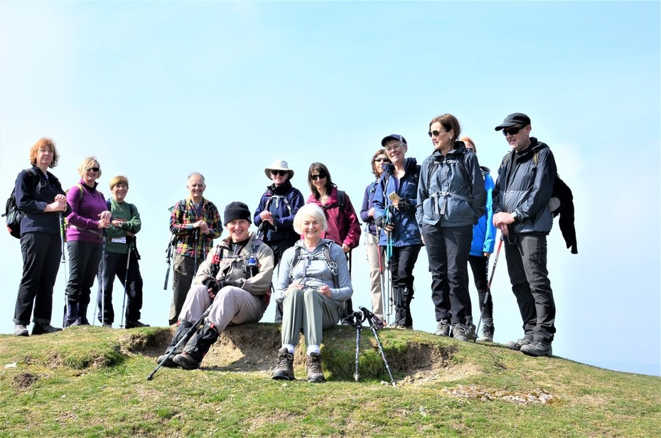 On top of a tumulus at Shooting Box, Long Mynd, Church Stretton
