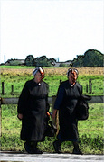 Ellen Norton Photo - Amish Women (Fresco)