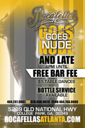 ROCFELLA'S GOES NUDE!!! OPEN 8PM-8AM!!!