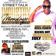 "MON 7/28 ALL NEW ""INDUSTRY MONDAYS"" @SUEDELOUNGE  HOSTED BY BIGGA RANKIN, CRUM.COM @PBROWNLIVE"