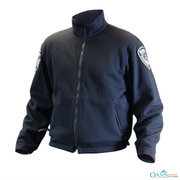 Navy Blue Cotton EMS Logo Jacket Supplier