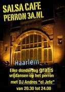 """Salsa Cafe met DJ Andres """"el Jefe @ Perron 3a, Station Haarlem"""