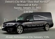 Detroit's City Wide Thou Shall Not Kill Motorcade/Rally