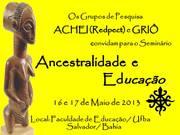 SEMINÁRIO ANCESTRALIDADE E EDUCAÇÃO