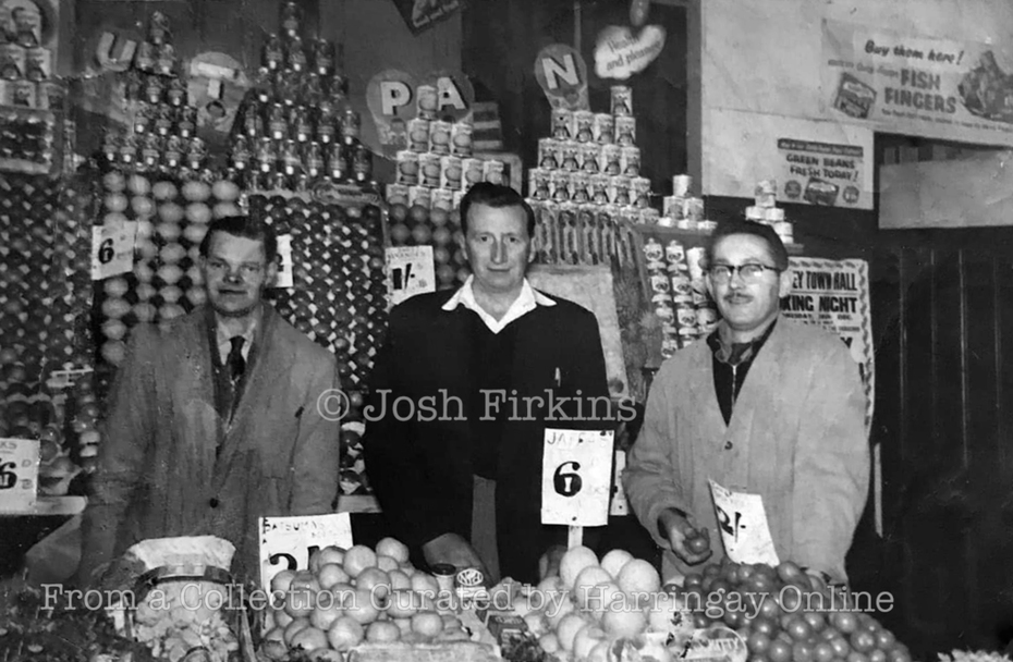 Firkins Green grocers, Middle Lane c1965
