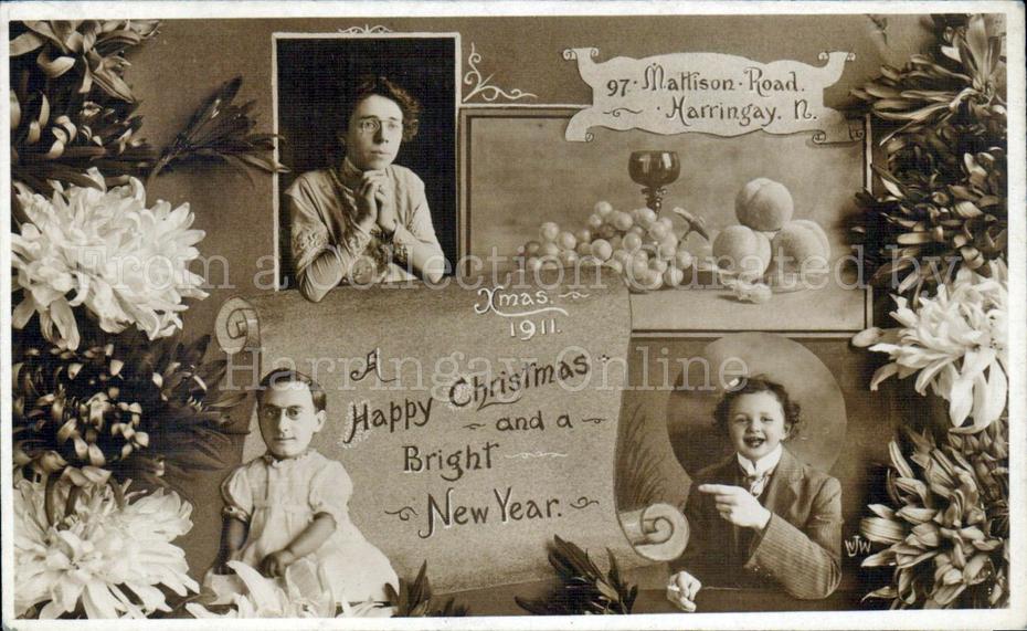Harringay Christmas Card 1911 Style