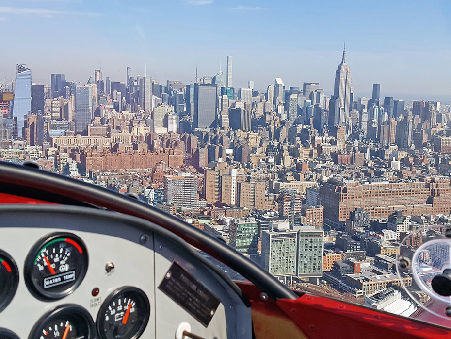 First trip in the Hudson River VFR Corridor - NYC