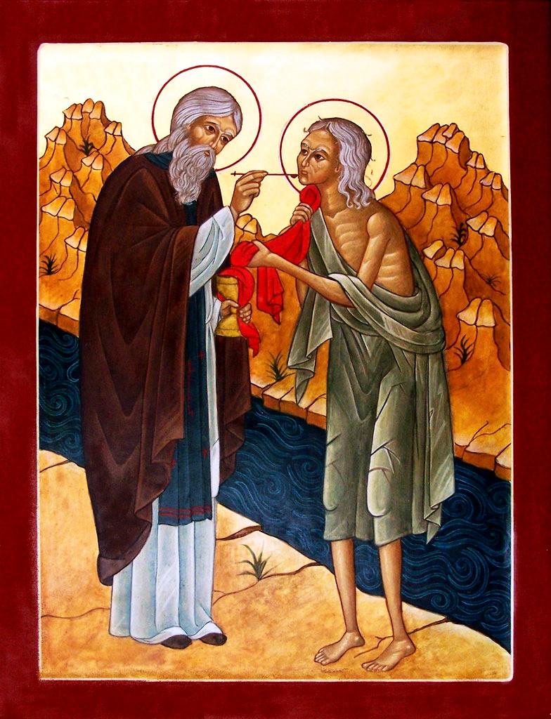 მარიამ მეგვიპტელი, mariam megvipteli, წმინდათა ცხოვრება, თვენი, აპრილი, ქველი, qwelly, april