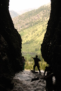 entrance to the wind cave in jedediah wilderness