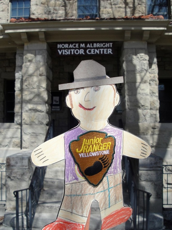 Flat Stanley at the Mammoth Visitor Center