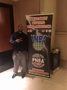 Leo hanging out at the INBA (natural nodyguilding event) in Las Vegas