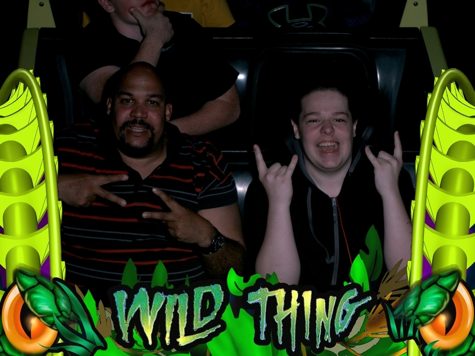 Leo on 35th Birthday at ValleyFair on the Wild Thing Roller Coaster at ValleyFair