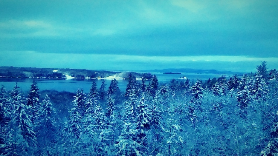 Winter in Maine is beautiful