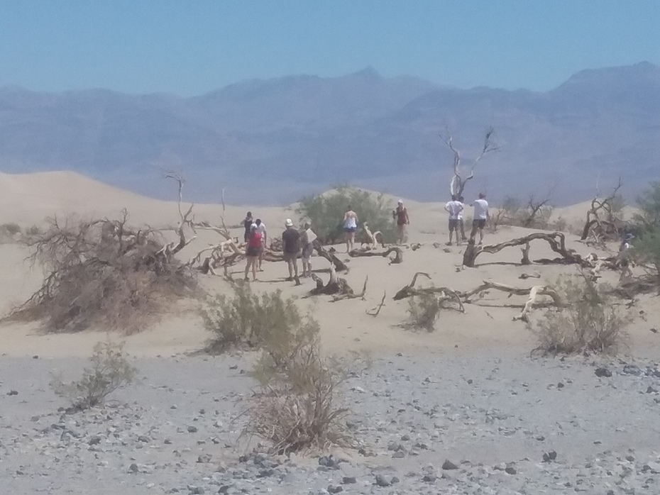 Sand Dunes near Stovepipe Wells in  Death Valley