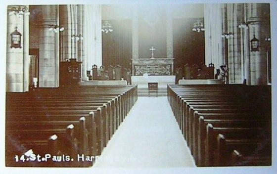 Interior of the Original St Paul's Church