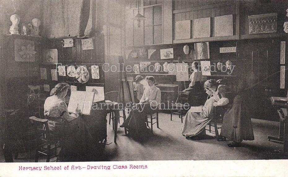 Hornsey School of Art (Interior View), c1910
