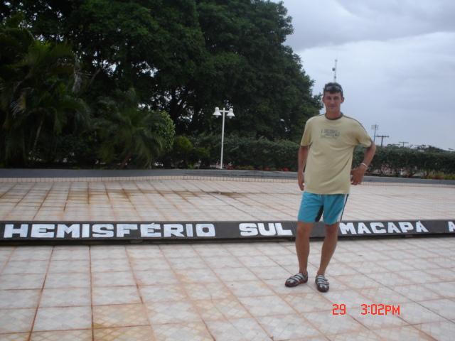 Em Macapá, Amapá no Hemisfério Sul
