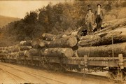 Here's Dave Gray & ??? on logging train